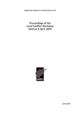 Proceedings Of The Land Conflict Workshop Held On 8 April 2009