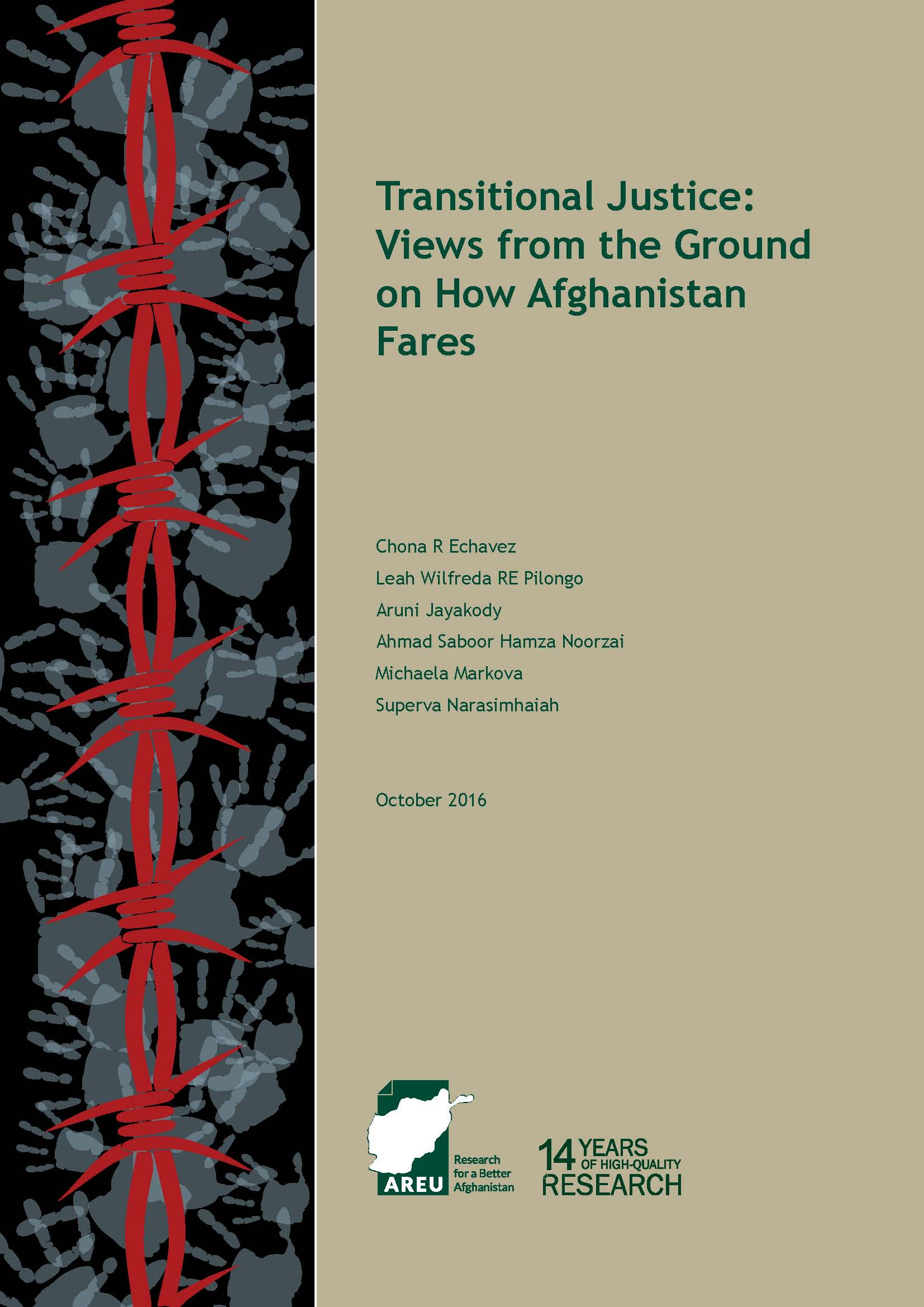 1622E Transitional Justice-Views from the Ground on How Afghanistan Fares