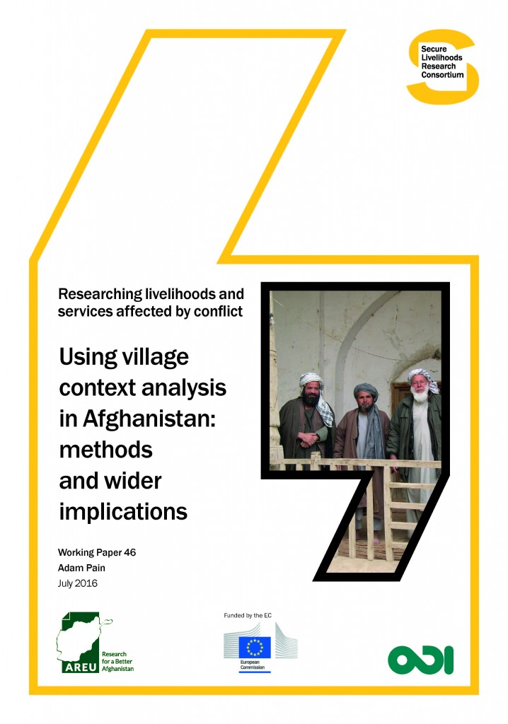 Using village context analysis in Afghanistan-Methods and wider implications