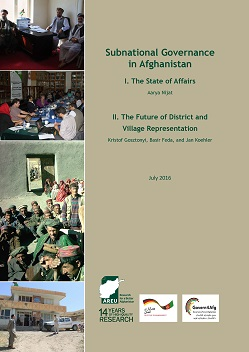1615E Subnational Governance in Afghanistan